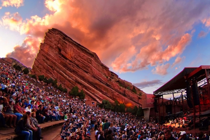 Red Rocks Amphitheatre Courtesy of Denver Arts & Venues, photo by Stevie Crecelius